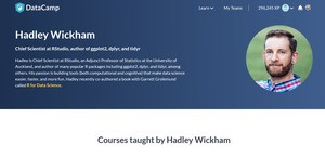 Hadley Wickham at Data Camp