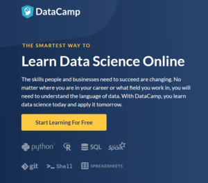 Data Camp Main Screen