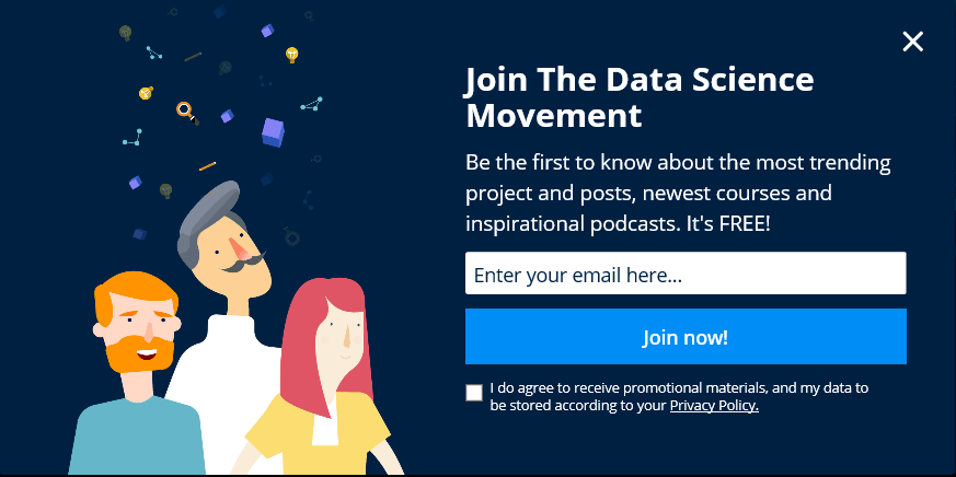 Free Sign Up Super Data Science