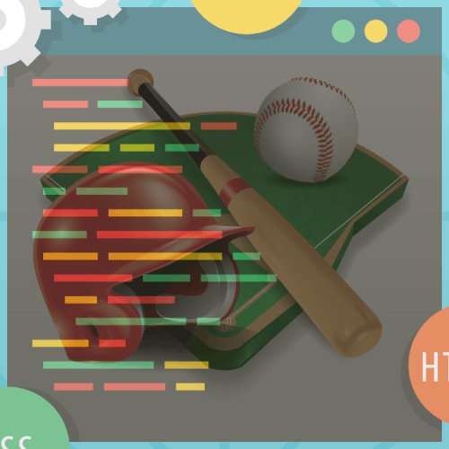 Baseball with Coding Image