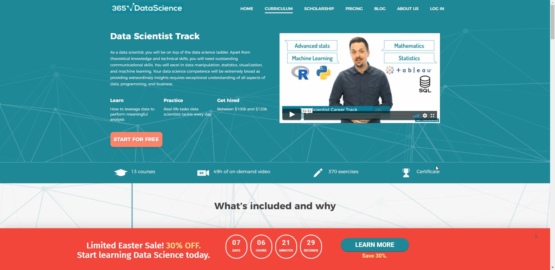 365 Data Science Website
