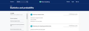 Khan Academy Statistics and Probability