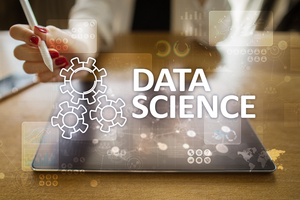 Data Science, analysis. Internet and technology concept concept, banner and infographic on virtual screen.