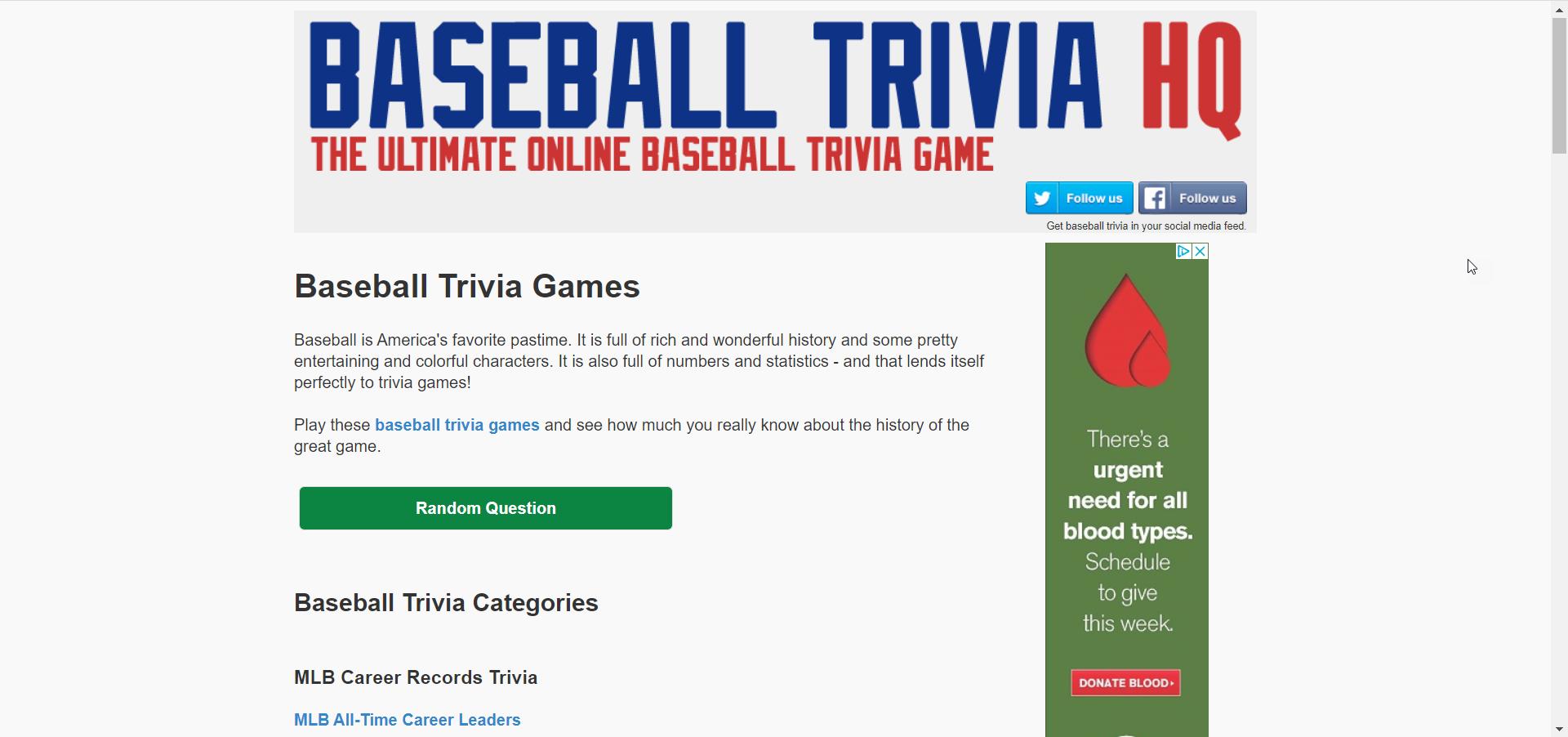 Baseball Trivia IQ