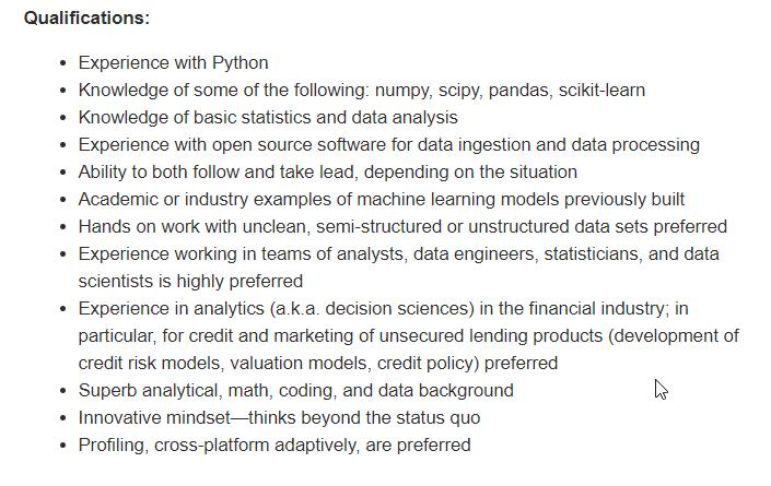 Data Science Job with Python