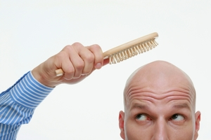 Bald Dude with Brush