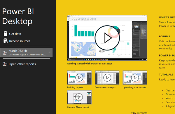 Power BI Splash