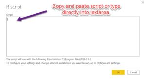 R Script Entry Textarea