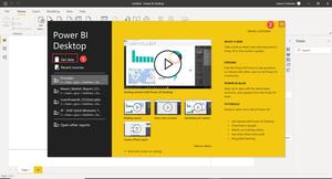 Power BI Desktop Splash