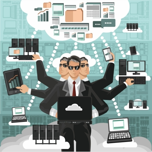 Business People Using Cloud