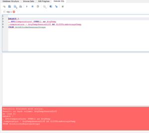 SQL Query Error 1